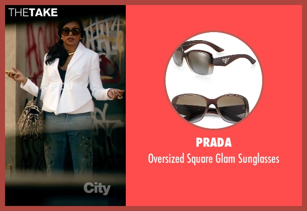 Prada brown sunglasses from Empire seen with Cookie Lyon (Taraji P. Henson)