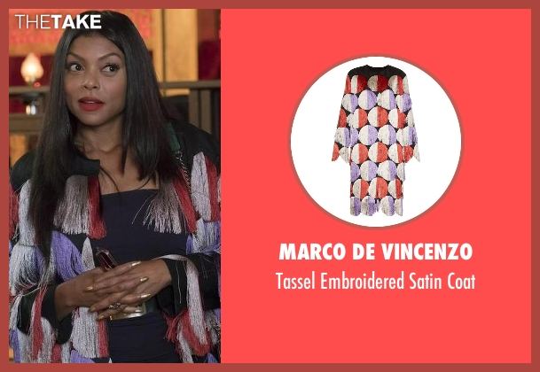 Marco De Vincenzo coat from Empire seen with Cookie Lyon (Taraji P. Henson)