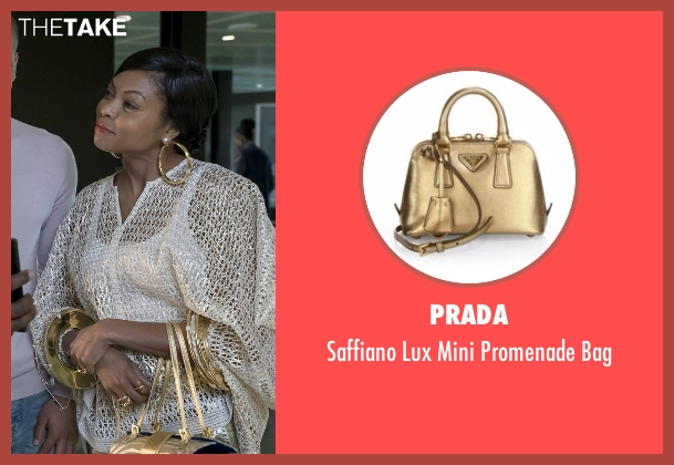 Prada gold bag from Empire seen with Cookie Lyon (Taraji P. Henson)