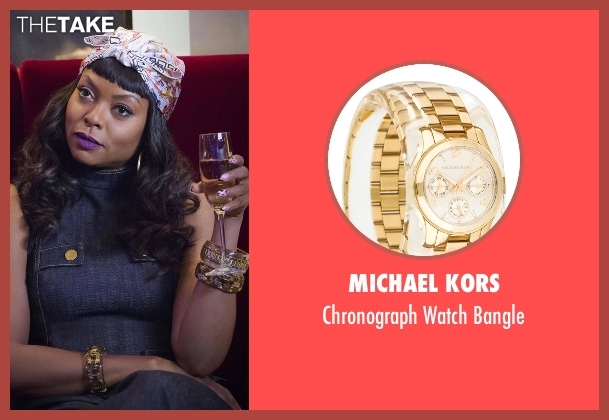 Michael Kors gold bangle from Empire seen with Cookie Lyon (Taraji P. Henson)
