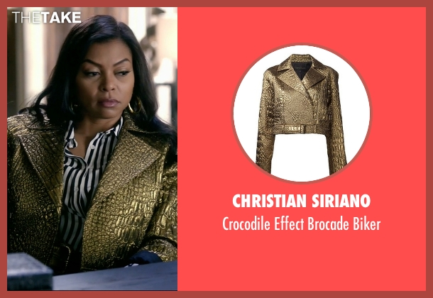 Christian Siriano gold biker from Empire seen with Cookie Lyon (Taraji P. Henson)