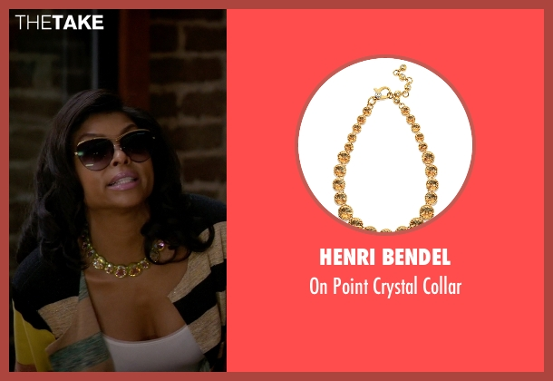 Henri Bendel gold collar from Empire seen with Cookie Lyon (Taraji P. Henson)