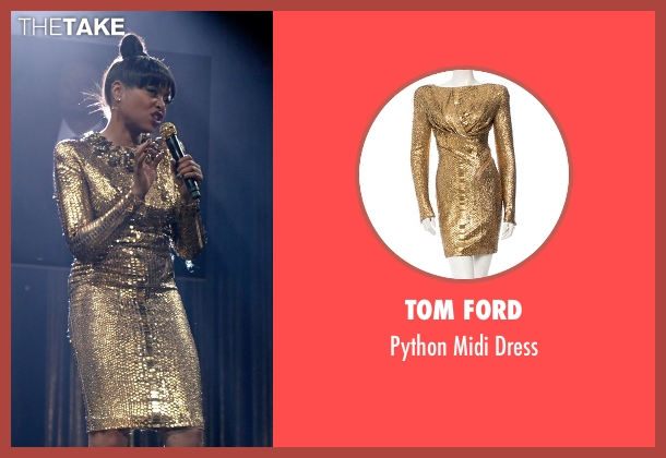 Tom Ford  gold dress from Empire seen with Cookie Lyon (Taraji P. Henson)