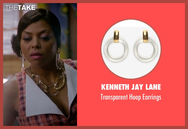 Kenneth Jay Lane gold earrings from Empire seen with Cookie Lyon (Taraji P. Henson)