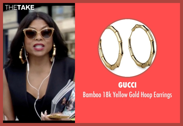Gucci gold earrings from Empire seen with Cookie Lyon (Taraji P. Henson)