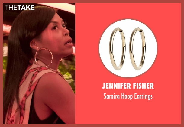 Jennifer Fisher gold earrings from Empire seen with Cookie Lyon (Taraji P. Henson)