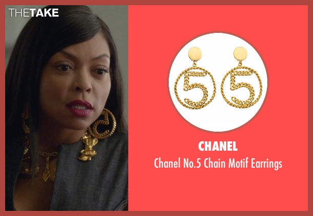 Chanel gold earrings from Empire seen with Cookie Lyon (Taraji P. Henson)