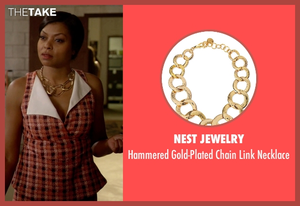 Nest Jewelry gold necklace from Empire seen with Cookie Lyon (Taraji P. Henson)