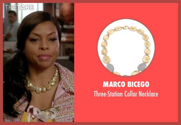 Marco Bicego gold necklace from Empire seen with Cookie Lyon (Taraji P. Henson)