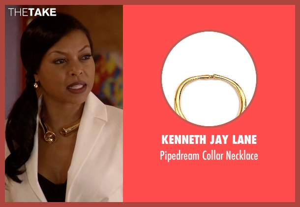 Kenneth Jay Lane gold necklace from Empire seen with Cookie Lyon (Taraji P. Henson)