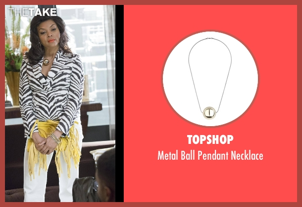 Topshop gold necklace from Empire seen with Cookie Lyon (Taraji P. Henson)