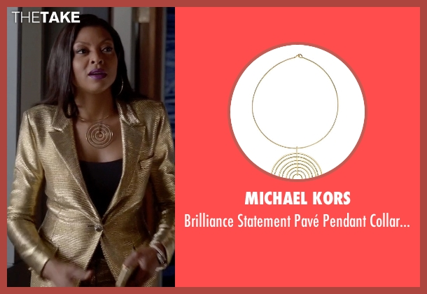 Michael Kors gold necklace from Empire seen with Cookie Lyon (Taraji P. Henson)