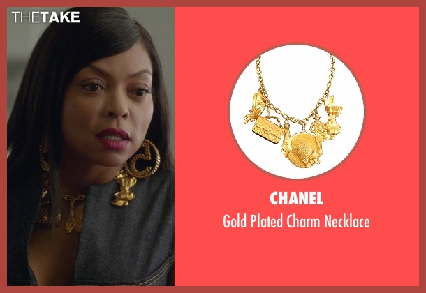Chanel gold necklace from Empire seen with Cookie Lyon (Taraji P. Henson)