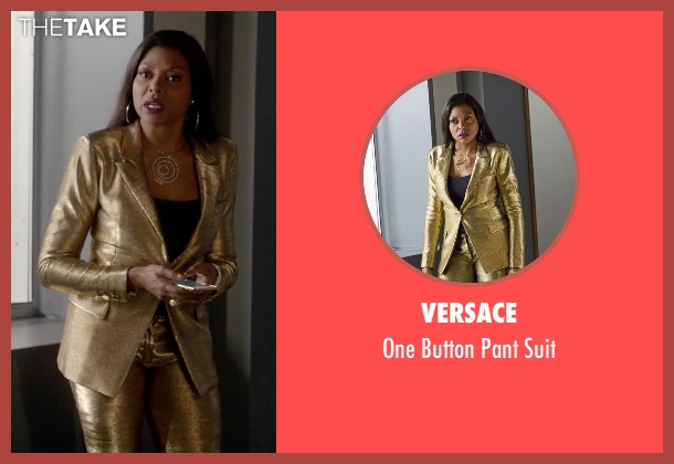 Versace gold suit from Empire seen with Cookie Lyon (Taraji P. Henson)