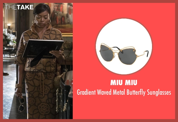 Miu Miu gold sunglasses from Empire seen with Cookie Lyon (Taraji P. Henson)