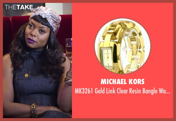 Michael Kors gold watch from Empire seen with Cookie Lyon (Taraji P. Henson)