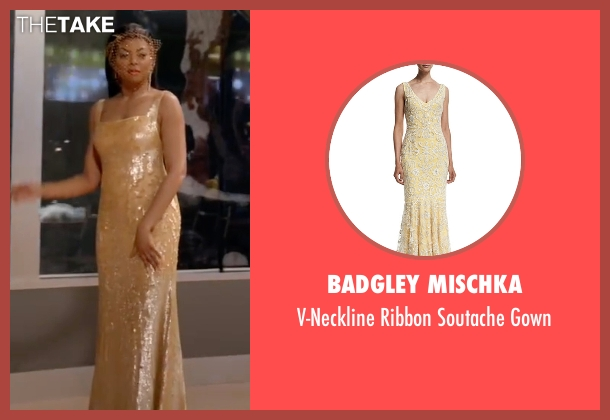 Badgley Mischka gown from Empire seen with Cookie Lyon (Taraji P. Henson)