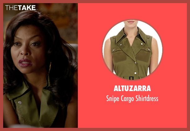Altuzarra green shirtdress from Empire seen with Cookie Lyon (Taraji P. Henson)