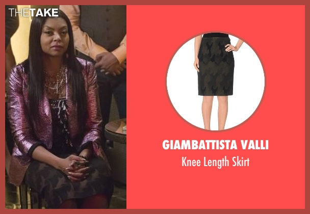 Giambattista Valli green skirt from Empire seen with Cookie Lyon (Taraji P. Henson)