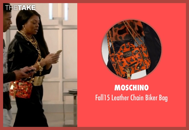 Moschino orange bag from Empire seen with Cookie Lyon (Taraji P. Henson)