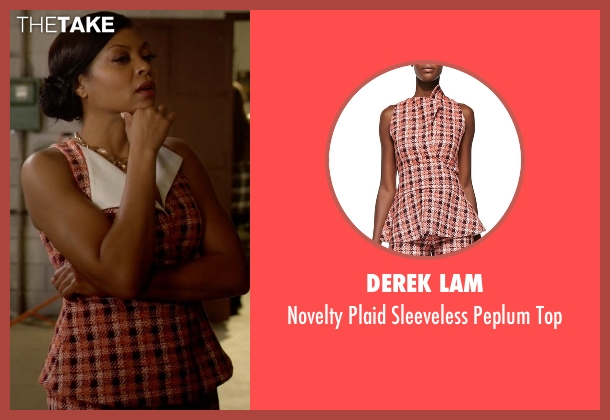 Derek Lam orange top from Empire seen with Cookie Lyon (Taraji P. Henson)