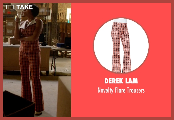 Derek Lam orange trousers from Empire seen with Cookie Lyon (Taraji P. Henson)