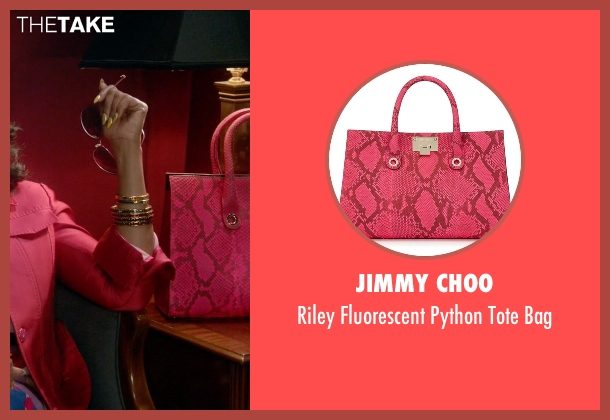 Jimmy Choo pink bag from Empire seen with Cookie Lyon (Taraji P. Henson)