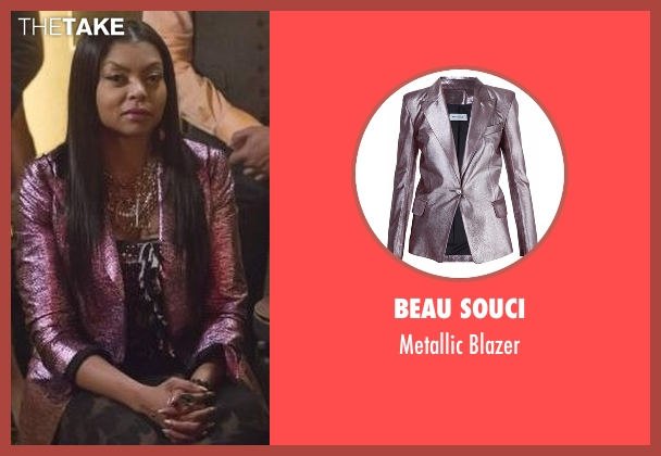 Beau Souci pink blazer from Empire seen with Cookie Lyon (Taraji P. Henson)