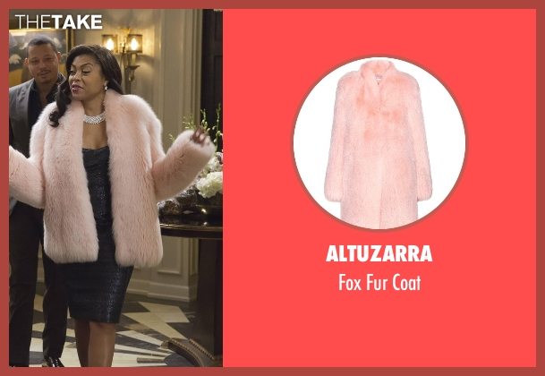 Altuzarra  pink coat from Empire seen with Cookie Lyon (Taraji P. Henson)
