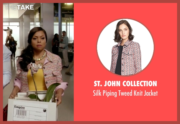 St. John Collection pink jacket from Empire seen with Cookie Lyon (Taraji P. Henson)