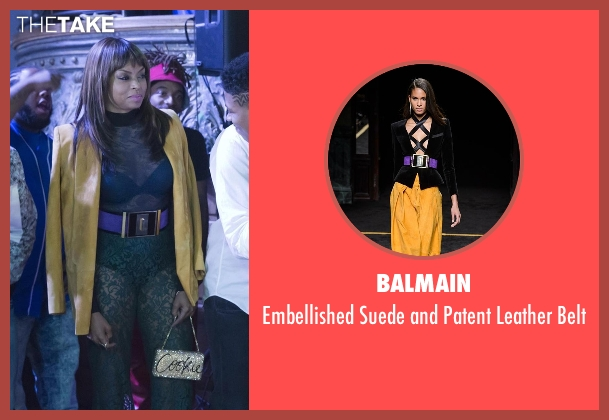 Balmain purple belt from Empire seen with Cookie Lyon (Taraji P. Henson)