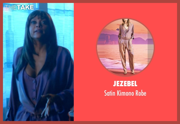 Jezebel purple robe from Empire seen with Cookie Lyon (Taraji P. Henson)
