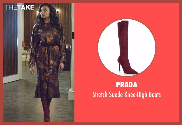 Prada red boots from Empire seen with Cookie Lyon (Taraji P. Henson)