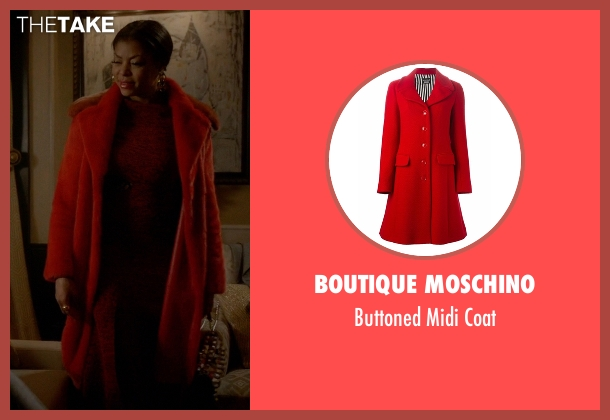 Boutique Moschino red coat from Empire seen with Cookie Lyon (Taraji P. Henson)