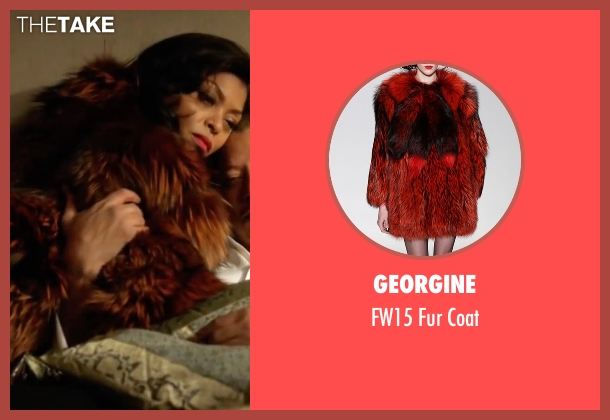 Georgine red coat from Empire seen with Cookie Lyon (Taraji P. Henson)