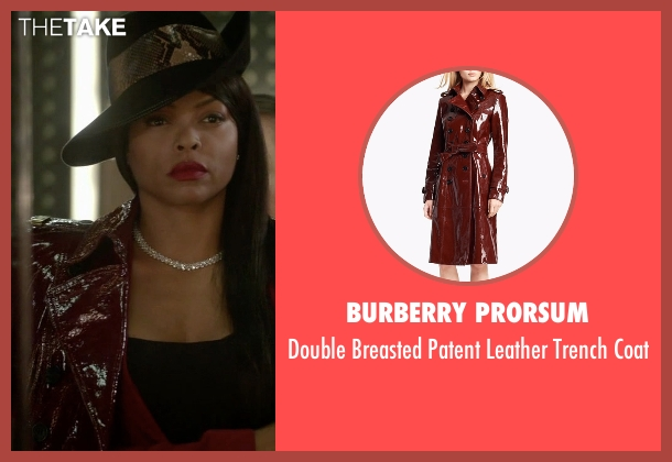 Burberry Prorsum red coat from Empire seen with Cookie Lyon (Taraji P. Henson)