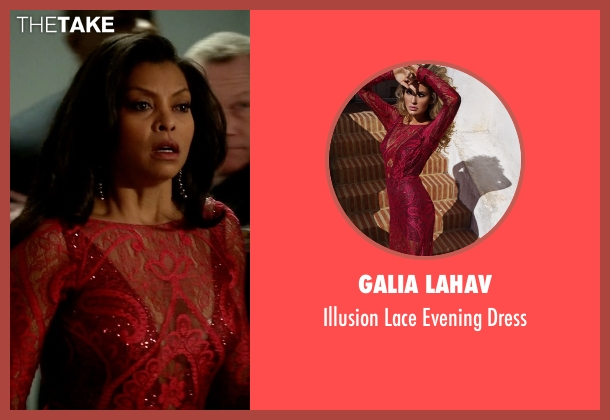 Galia Lahav red dress from Empire seen with Cookie Lyon (Taraji P. Henson)