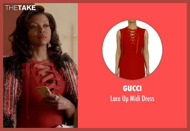Gucci red dress from Empire seen with Cookie Lyon (Taraji P. Henson)