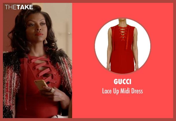 Taraji p henson red dress vest