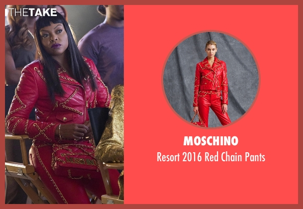 Moschino red pants from Empire seen with Cookie Lyon (Taraji P. Henson)