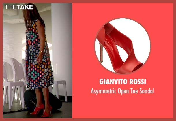 Gianvito Rossi red sandal from Empire seen with Cookie Lyon (Taraji P. Henson)