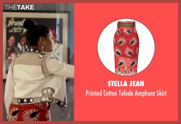 Stella Jean red skirt from Empire seen with Cookie Lyon (Taraji P. Henson)