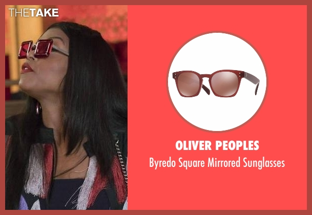 Oliver Peoples  red sunglasses from Empire seen with Cookie Lyon (Taraji P. Henson)