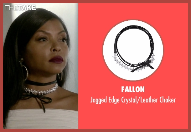 Fallon silver choker from Empire seen with Cookie Lyon (Taraji P. Henson)