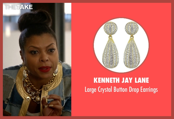 Kenneth Jay Lane silver earrings from Empire seen with Cookie Lyon (Taraji P. Henson)