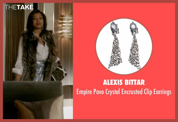 Alexis Bittar silver earrings from Empire seen with Cookie Lyon (Taraji P. Henson)