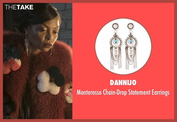 Dannijo silver earrings from Empire seen with Cookie Lyon (Taraji P. Henson)