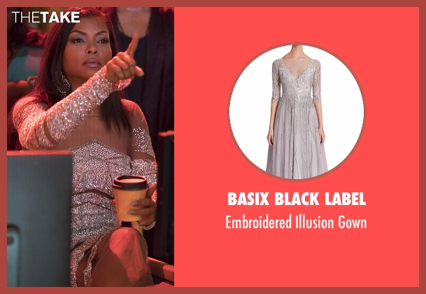 Basix Black Label silver gown from Empire seen with Cookie Lyon (Taraji P. Henson)