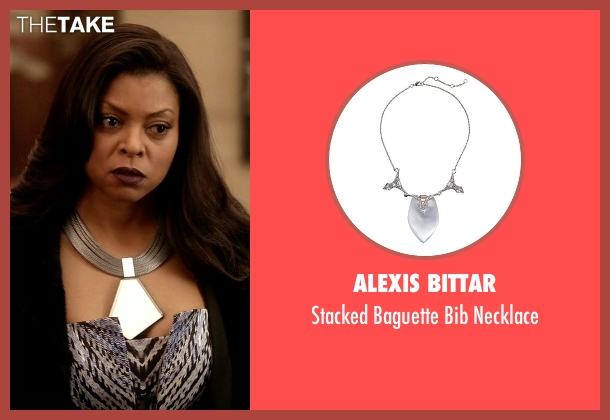 Alexis Bittar silver necklace from Empire seen with Cookie Lyon (Taraji P. Henson)