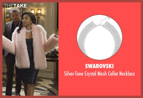 Swarovski silver necklace from Empire seen with Cookie Lyon (Taraji P. Henson)
